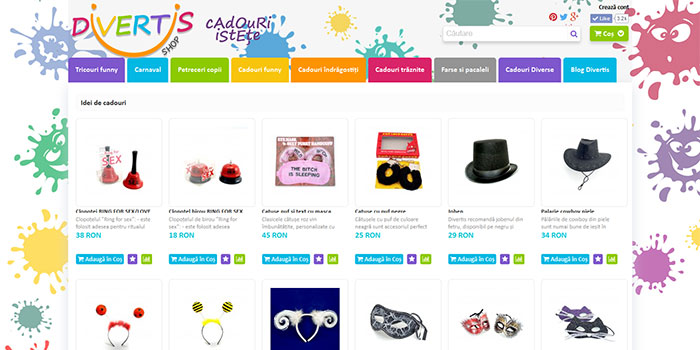 Divertis Shop - ecommerce website for Divertis Shop